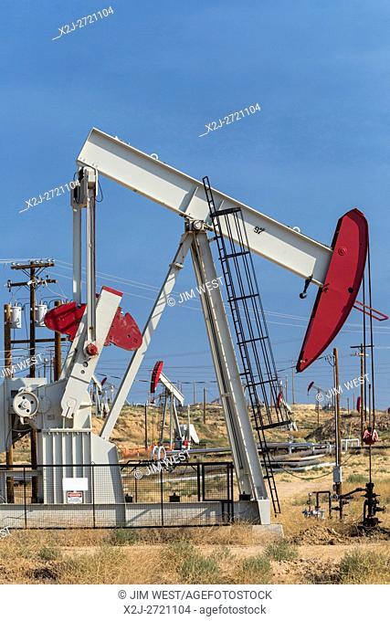Bakersfield, California - Oil wells in the huge Kern River Oil Field