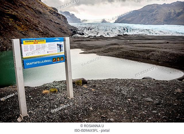 Information sign, Skaftafell National Park, Iceland