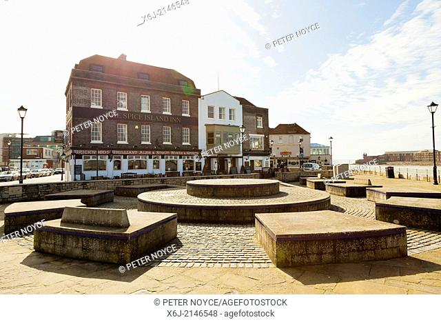 Spice Island Inn and the Point in Old Portsmouth
