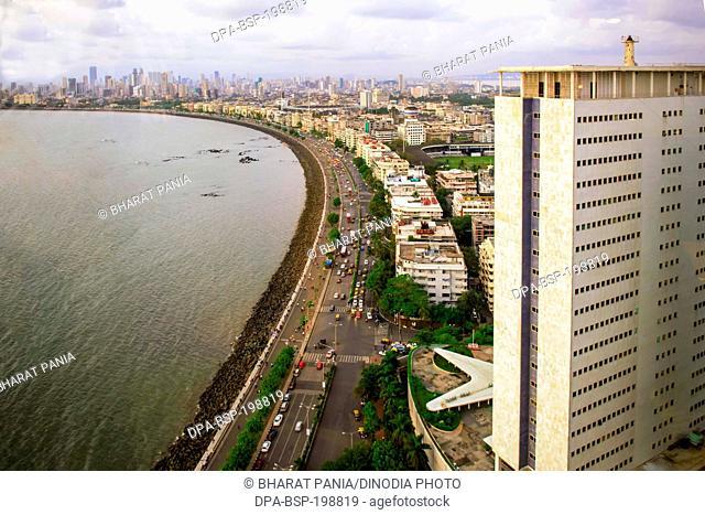 Aerial view, nariman point, mumbai, maharashtra, india, asia