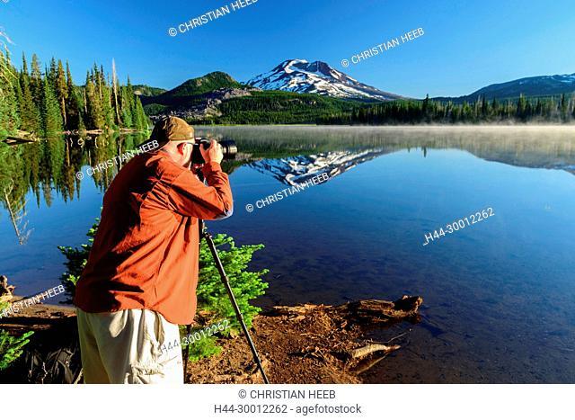 USA, Oregon, Pacific Northwest, Central, Cascades, Deschutes County, Sparks Lake