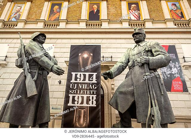 1914, statue of fighters of the world war I. Budapest Hungary, Southeast Europe