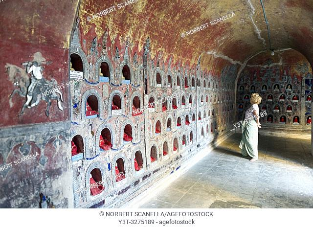 Myanmar (ex Birmanie). Nyaung Shwe. Shan state. The Shwe Yan Pyay monastery. (Or ''The palace of the mirrors'') designed in wood in 1907 near Inle Lake