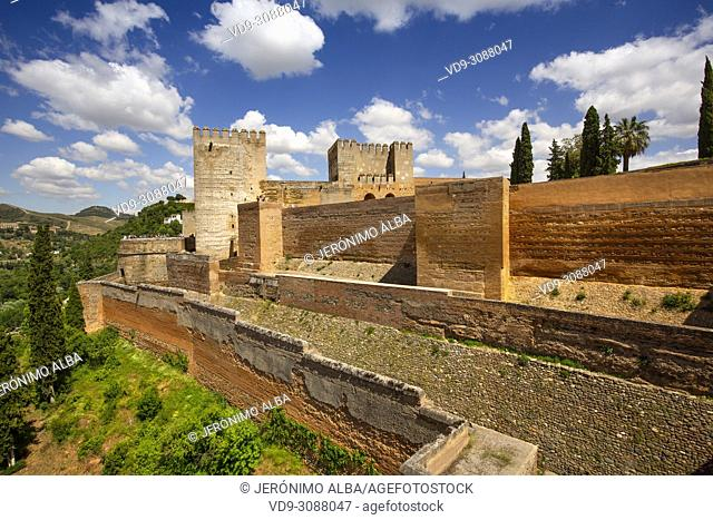 The Alcazaba. Alhambra, UNESCO World Heritage Site. Granada City. Andalusia, Southern Spain Europe