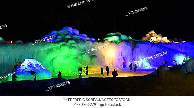 Sounkyo ice festival, Hokkaido, Japan, Asia