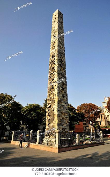 "Collumn of Constantine """" Ormedikilitas"""" , 10 th C. AD . Hippodrome. Istanbul. Turkey"