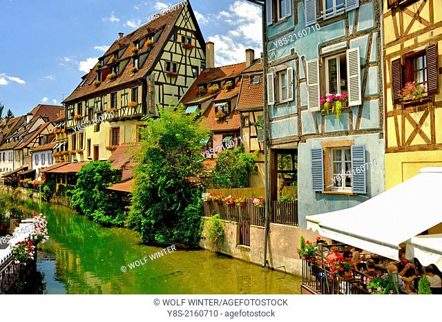 Half-timbered Houses at Little Venice, Colmar, France