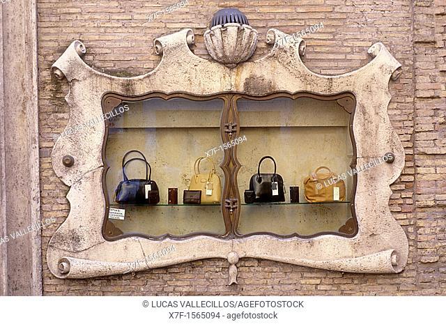 Showcase of Florence Moon shop, Via del Corso 92,Rome, Italy