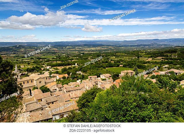 Landscape near the Village Bonnieux, Provence, France