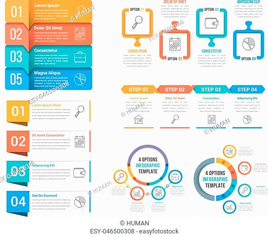 Four steps infographic templates, can be used as process, options, workflow, vector eps10 illustration