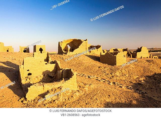 Al-Bagawat, one of the earliest and best preserved Christian cemeteries in the ancient world. Kharga oasis, Egypt