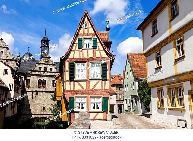 Germany, Bavaria, Romantic Road, Marktbreit, Malerwinkelhaus Museum Building