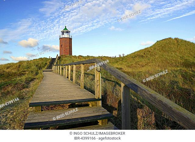 Old lighthouse, Quermatenfeuer, Kampen, Sylt, North Frisian Islands, North Frisia, Schleswig-Holstein, Germany