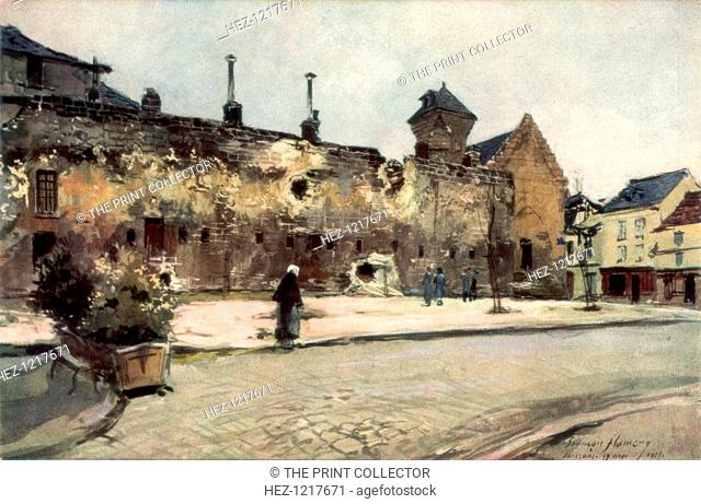 'The Barracks at Soissons', France, 1915, (1926)