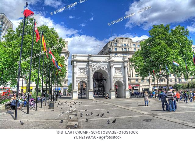 HDR image of Marble Arch in Cental London