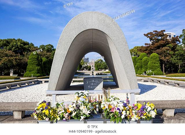 Japan, Kyushu, Hiroshima, Peace Memorial Park, Cenotaph for the A-Bomb Victims