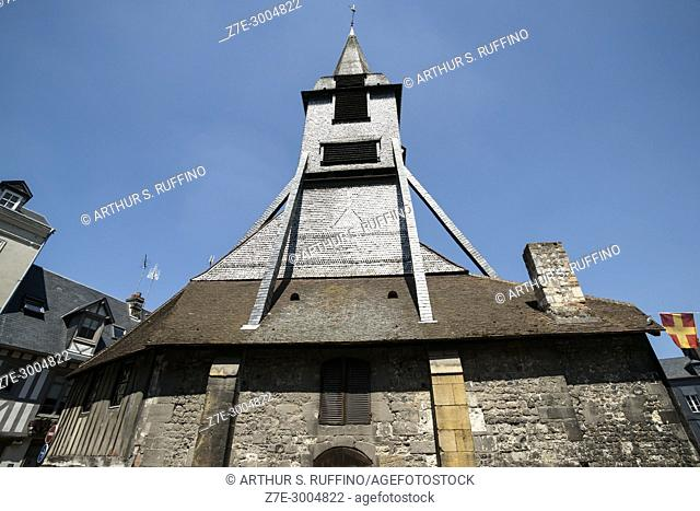 Bell Tower of the Church of Saint Catherine (Église Sainte Catherine), Honfleur, Calvados Department, Normandy, France, Europe