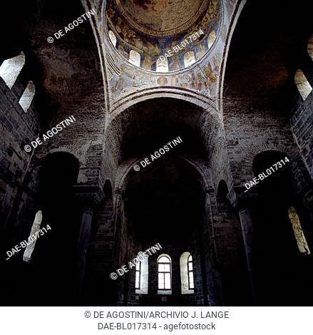 Interior of the church of Hagia Sophia, Trabzon, Black Sea region, Turkey. Byzantine civilization, 13th century