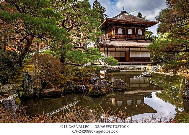 Silver Pavilion, in Ginkaku ji temple, Kyoto, Kansai, Japan