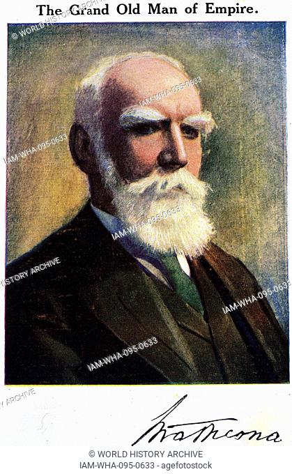 Portrait of Donald Smith, 1st Baron Strathcona and Mount Royal (1820-1914) a Scottish-born Canadian businessman and philanthropist. Dated 20th Century