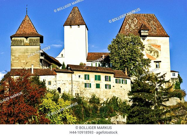 historic building, heritage building, monument, Bergfried, coat of arms, crest, castle, Burgdorf, donjon, Emmental, high nobility, aristocracy, Hohenstaufen