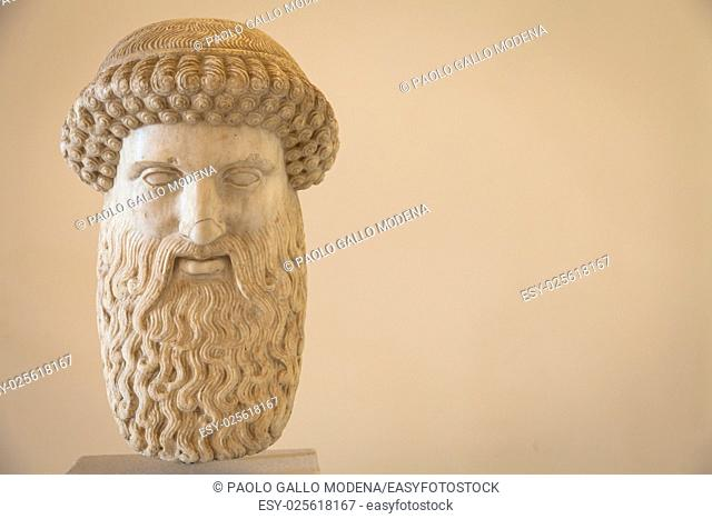 2nd Century AD, marble. Hermes head