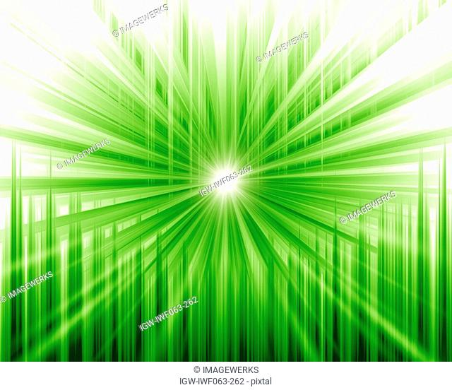 Abstract green pattern of sunlight