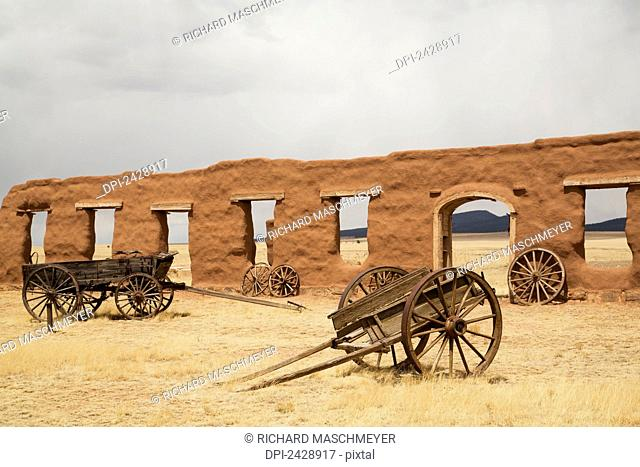 Old wagons at Fort Union National Monument,; New Mexico, United States of America