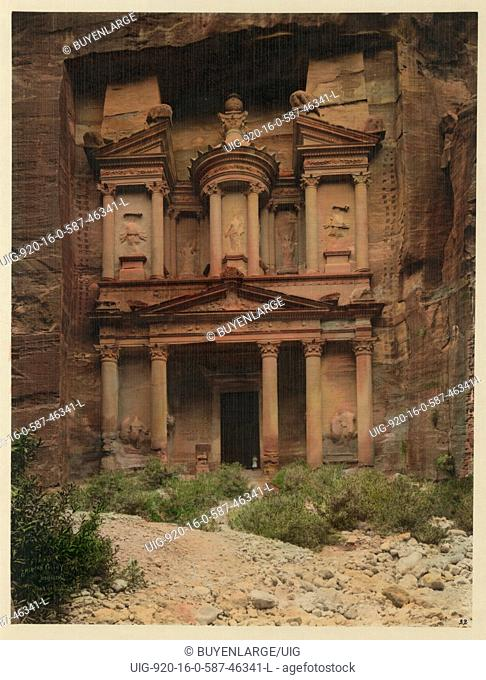 Petra, city cut from the rocks; the Temple of El Deir
