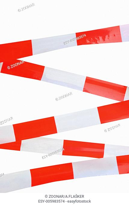 Red and white striped tape