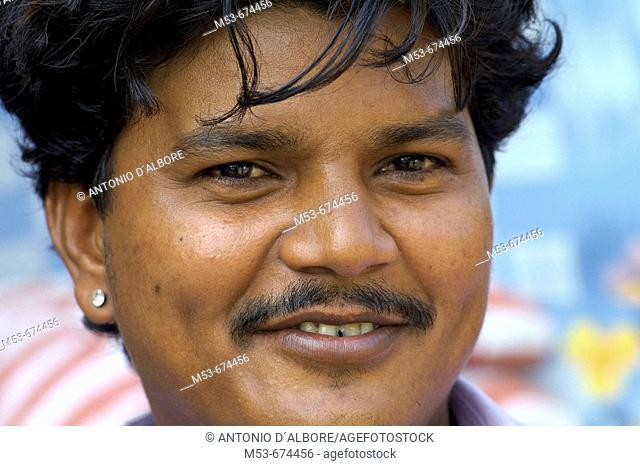 Adult man in Santacruz district, Mumbai, Maharashtra, India