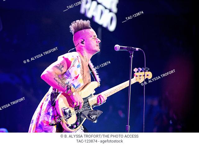 Cole Whittle of DNCE performing at the POWER 96.1's iHeart Radio Jingle Ball presented by Capital One at the Phillips Arena on December 16, 2016 in Atlanta