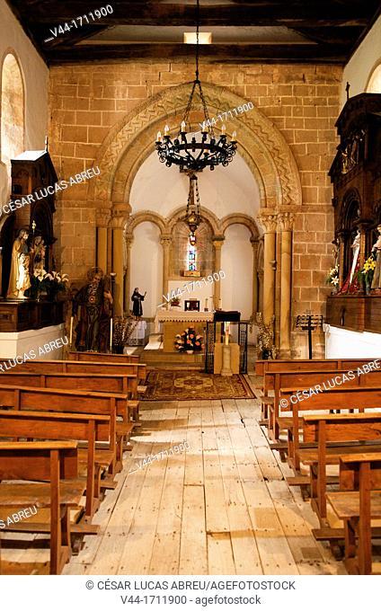 Church of San Andres in Valdebarcena, Villaviciosa, Asturias, Spain