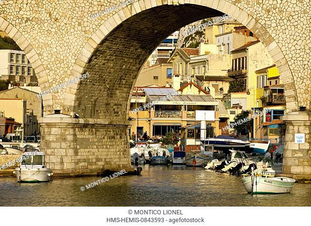 France, Bouches du Rhone, Marseille, the Vallon des Auffes