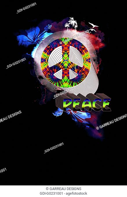 Neon layered peace design