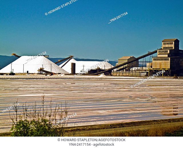 Salt pond and processing plant adjacent to San Francisco Bay