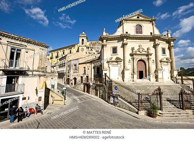 Italy, Sicily, Ragusa, Baroque town listed as World Heritage by UNESCO, Ragusa Ibla Lower Town, Chiesa delle Anime Sante del Purgatorio