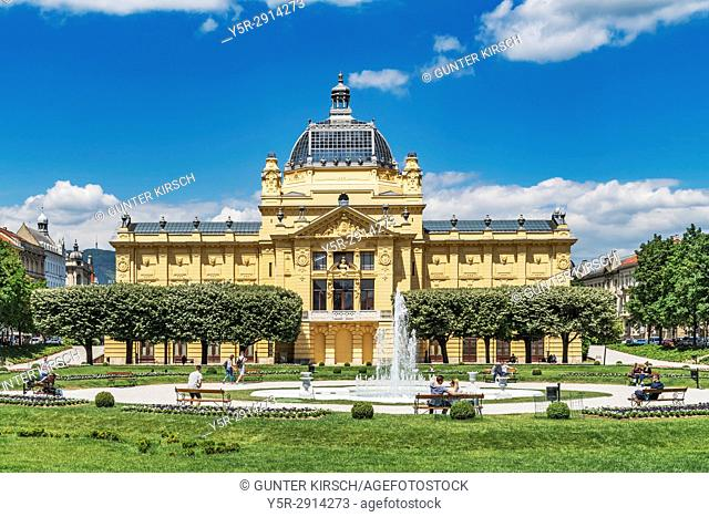 The Zagreb Art Pavilion is an exhibition hall for contemporary art. The building was built in 1898. It is located near the central station, Zagreb, Croatia