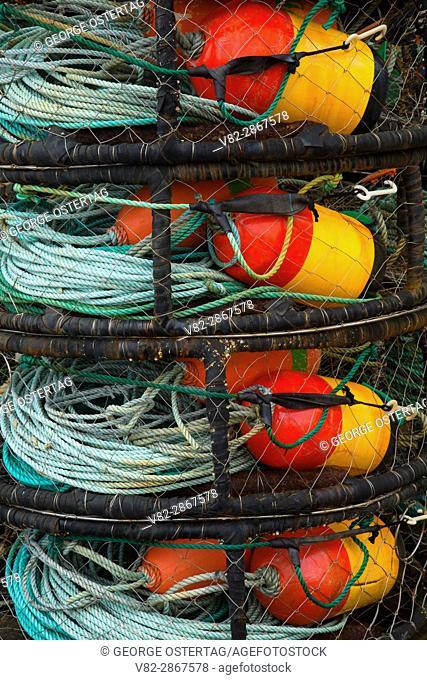 Crab pots, Port of Newport, Newport, Oregon