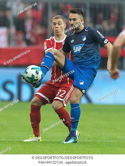 Joshua KIMMICH (FC Bayern) /hinten im duels with Lukas Rupp (Hoffenheim) GES/ Fussball/ 1. Bundesliga: FC Bayern Munich - TSG 1899 Hoffenheim, 27.01
