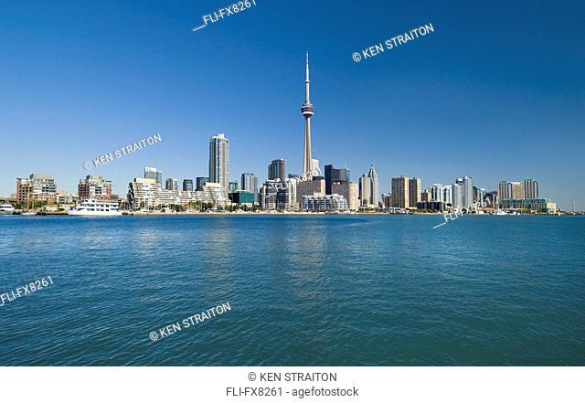 Toronto waterfront and skyline looking northeast, Toronto, Ontario