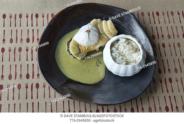 Gourmet green curry, Bangkok, Thailand