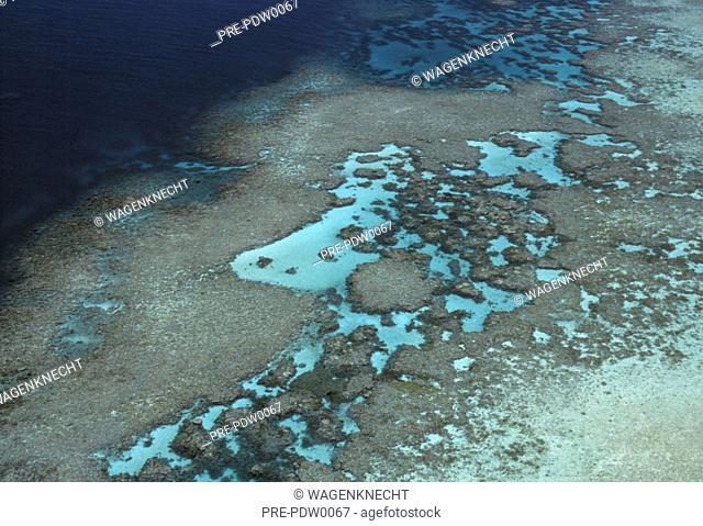 Great Barrier Reef, aerial view, Australia