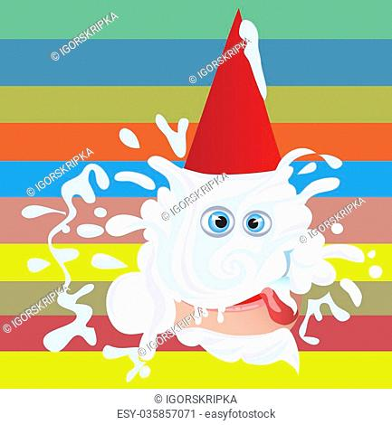 Very cheerful day is a birthday.vector illustration