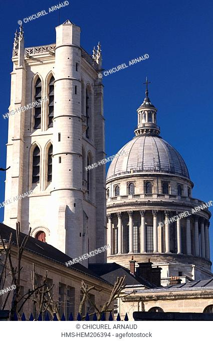 France, Paris, the Clovis tower and the Pantheon