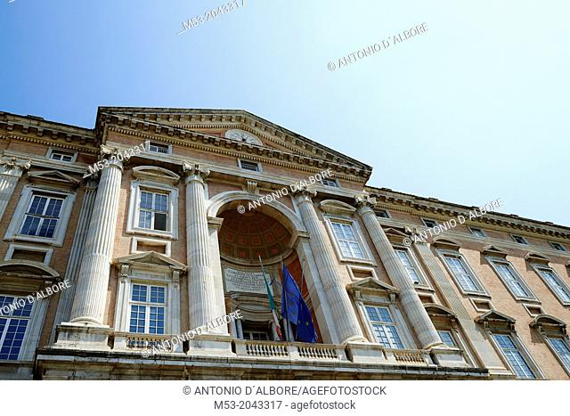 Facade of a Royal Palace in Caserta. Campania. Italy