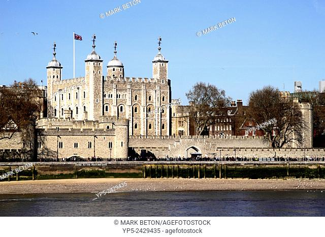 The Tower of London view from River Thames