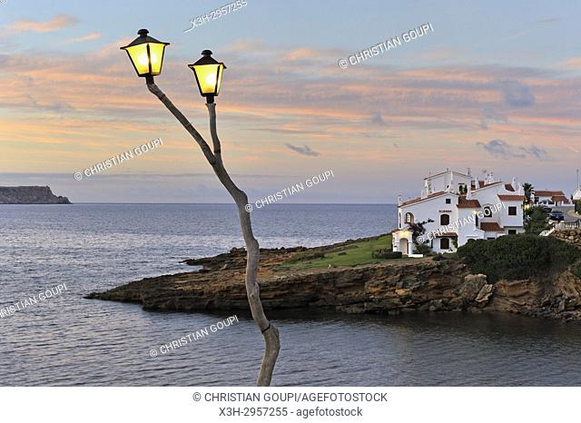 Platges de Fornells, seaside resort, Menorca, Balearic Islands, Spain, Europe