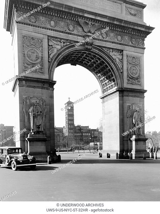 New York, New York: c. 1934 Washington Square in New York city