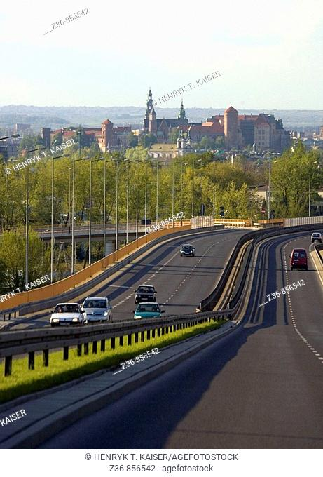 Poland, Krakow, from road